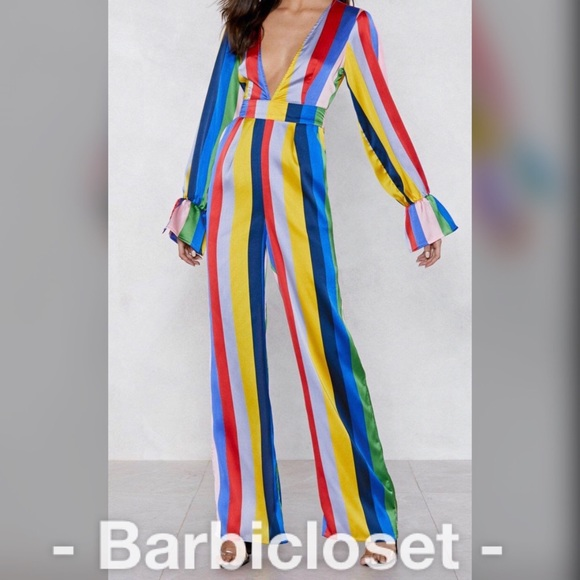Dresses & Skirts - Multicolored exclusive striped jumpsuit